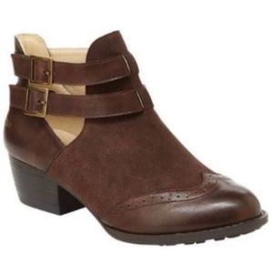 Leather booties by JBU